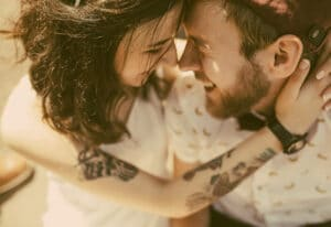 couple embracing and bonding through emotionally focused couples therapy